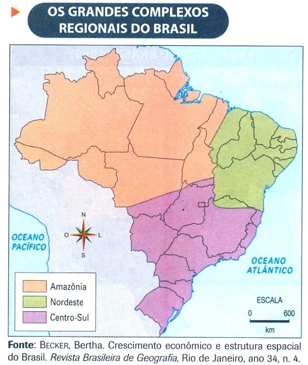 mapa do brasil por regioes. Essa regionalização do Brasil,