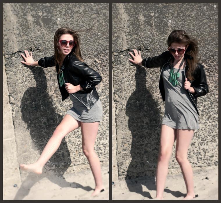 ..kicking sand..