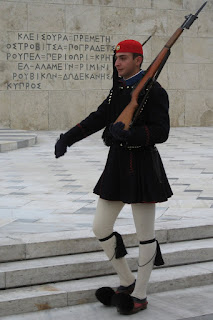 A Greek evzon, December 2008