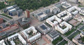 Ruoholahti, yksi tunnetuista Hitas-alueista kuvattuna ilmasta 23.7.2009