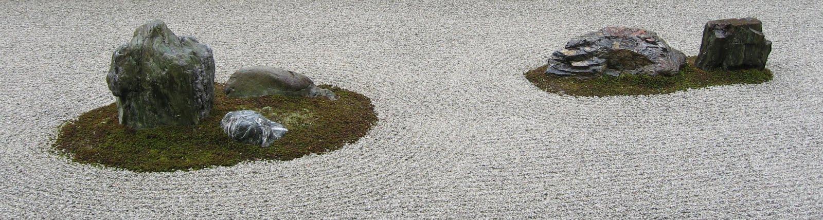 Kivipuutarha zen-temppeli Ryōan-jissa, Kioto, maaliskuu 2009