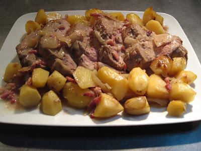 Seb en cuisine roti de veau paysanne - Comment cuisiner un roti de veau ...