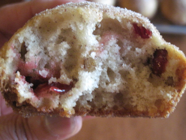 Cranberry Nut Doughnut Muffin Recipe