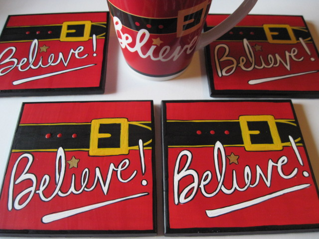 Believe in Santa Coasters