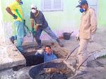 """Limpeza e manutenção das """"bocas de lobo"""" de Pilar"""