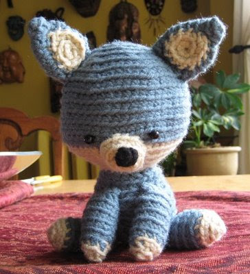 Baby Wolf Amigurumi : Skein and Bones: Little Froggies and a Wolf!