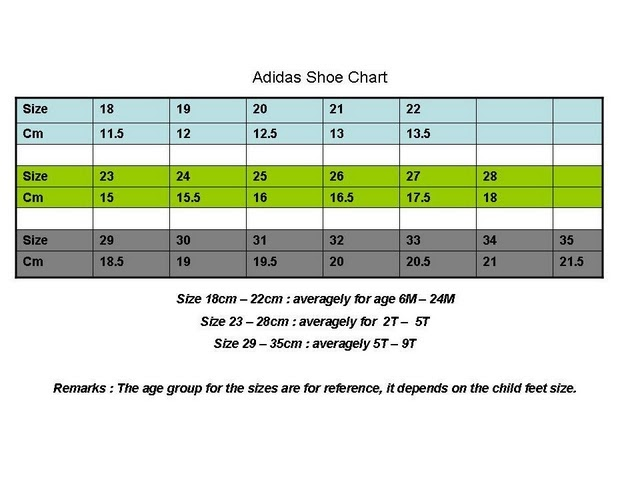 adidas trainers size guide