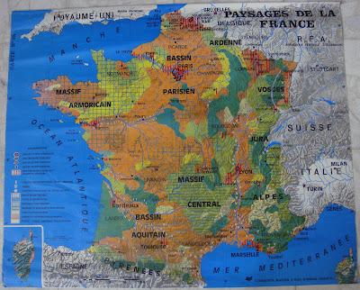 vintage school map vintage