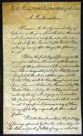 analysis of the emancipation proclamation speech