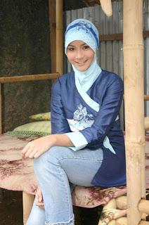 Zaskia Kebaya Muslim Biru Anggun- Muslim Fashion