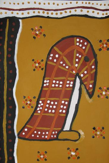 aboriginal art animals. Aboriginal Art – Patience is a