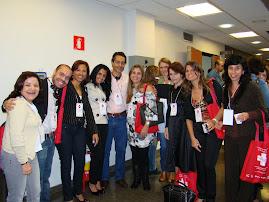 Colegas psicólogos no congresso do HC-FMUSP