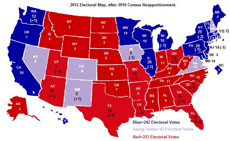 electoral college map 2010 - photo #5