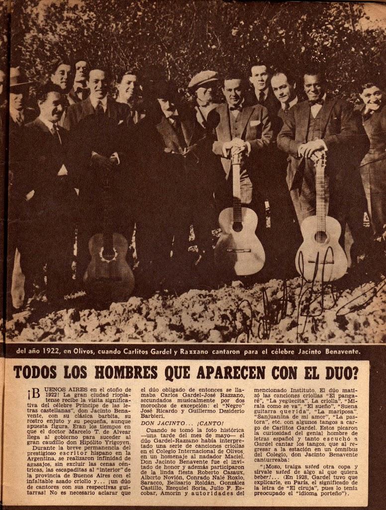 Homenaje a Benavente en 1922