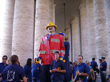 Preparació per l'audiència del Papa Benet XVI