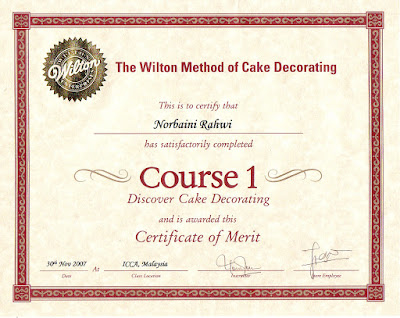 Cake Decorating Qualifications : NORBAINI S QUALIFICATIONS