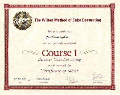 Cake Decorating Qualifications : NORBAINI S QUALIFICATIONS