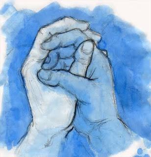 manos azules