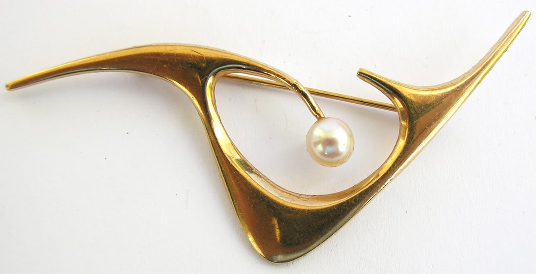 etsy metal: Vintage Modernist Jewelry