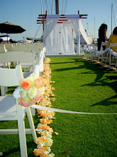 Ceremony flowers at the California Yacht Club