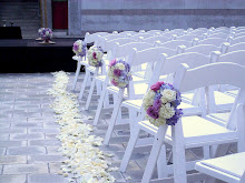 Ceremony decor' at the great Skirball Cultural Center