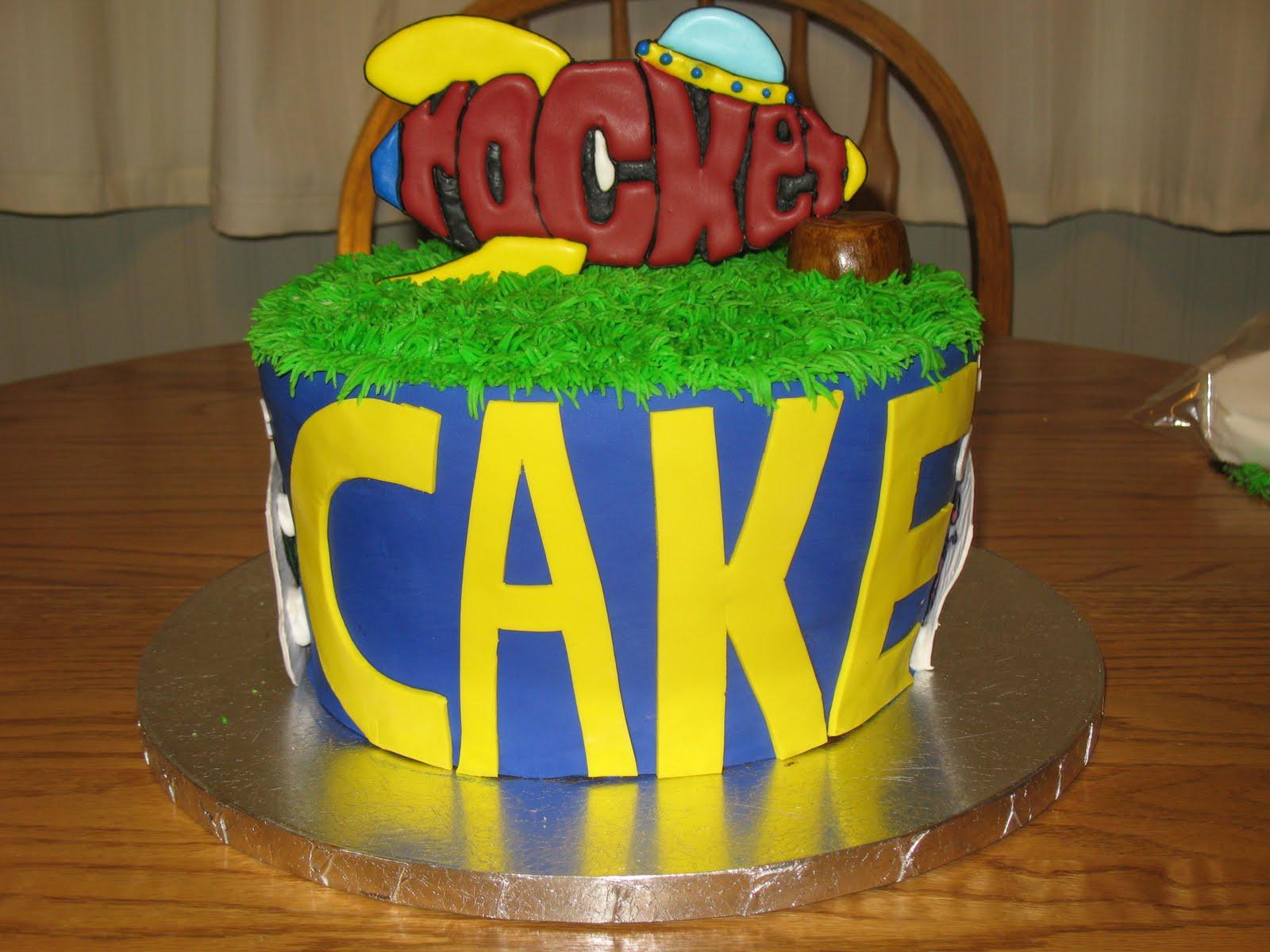J S Cakes Word World Cake