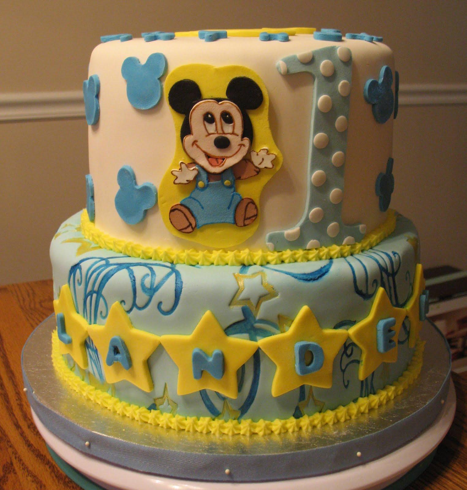 J's Cakes: Baby Mickey's Birthday