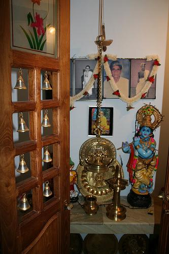 in many houses a separate room called the pooja room is kept aside to ...