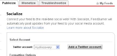 Socialize Feedburner
