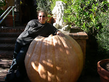 Me, myself and I (and of course a big, but real, pumpkin)