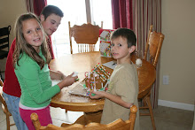 Making our gingerbread house