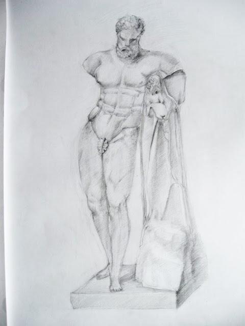 гипс, рисунок, скульптура