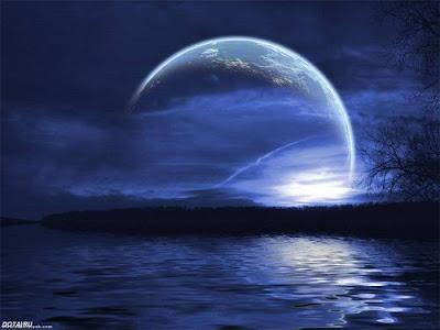 луна, лунная иллюзия