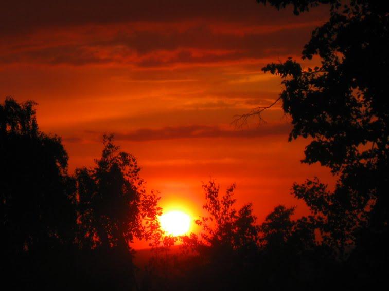 закат, красивый закат