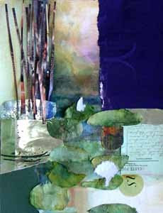 Water Lilies, collage by Susan K. Miller