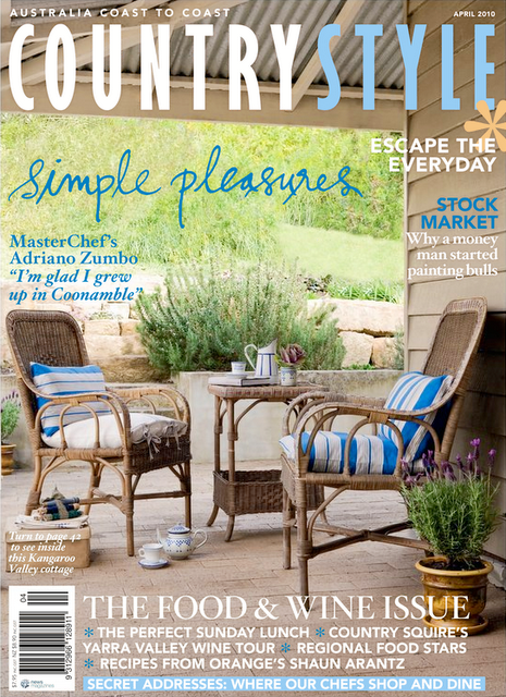 On Sale Now Australian Country Style Magazine April 2010 Table Tonic