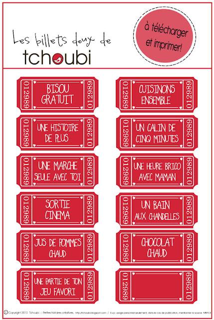 Tchoubi petites histoires cr atives billets doux pour la st valentin - Salon creation et savoir faire billet gratuit ...