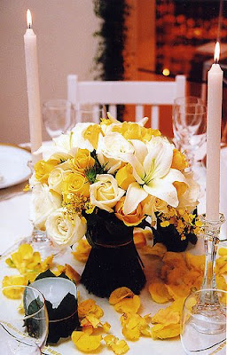 flor amarela arranjo casamento