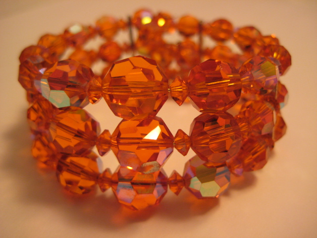"Rare Sherman Orange Crystal Colour called ""Sun"""
