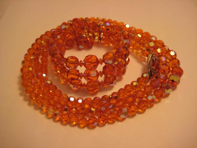 Rare Orange Sherman Crystal Set