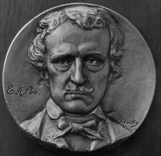 Edgar Allan Poe medallion
