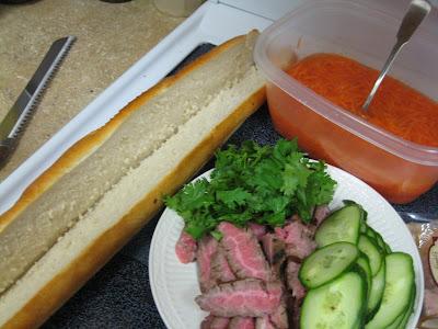 Vietnamese Steak Sandwich or Banh Mi (serves 4)