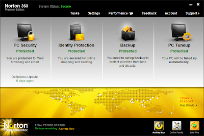 Norton User Interface