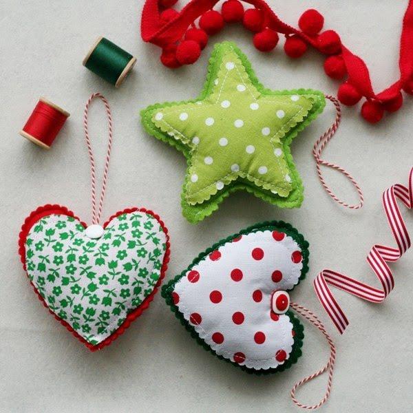 Adornos de fieltro para el rbol de navidad ifelt - Adornos originales para navidad ...