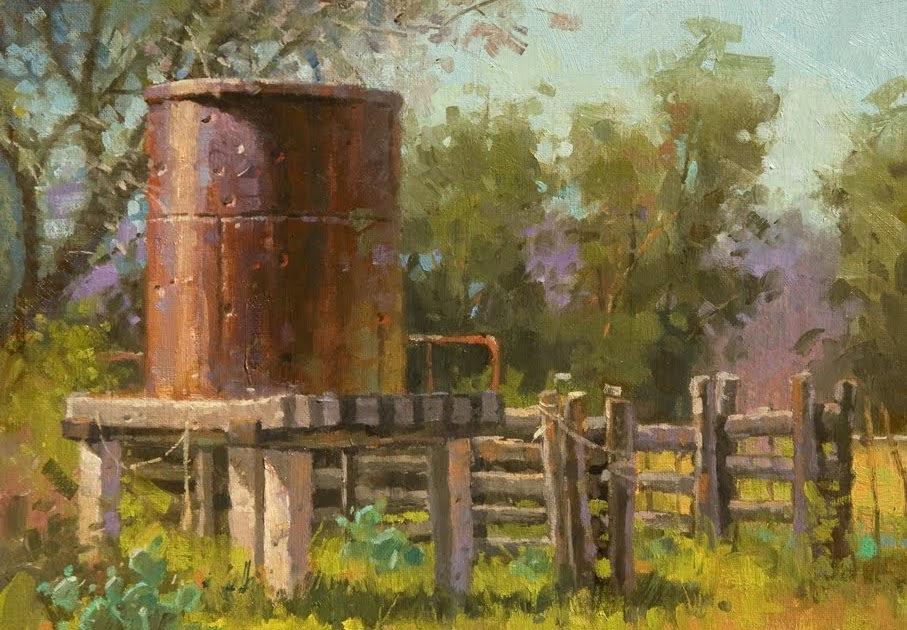 Water Tank Painting : Steve atkinson painting bullets and water tanks don