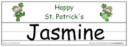St. Patrick's Name Templates