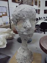Início da modelagem - Cabeça de Frente