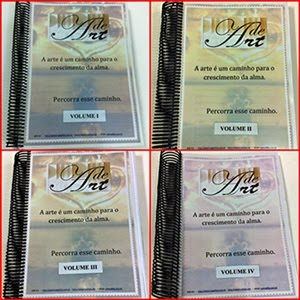 MINHAS APOSTILAS  ENCADERNADAS POR UMA AMIGA QUERIDA, EM 4 VOLUMES (esses não estão à venda)