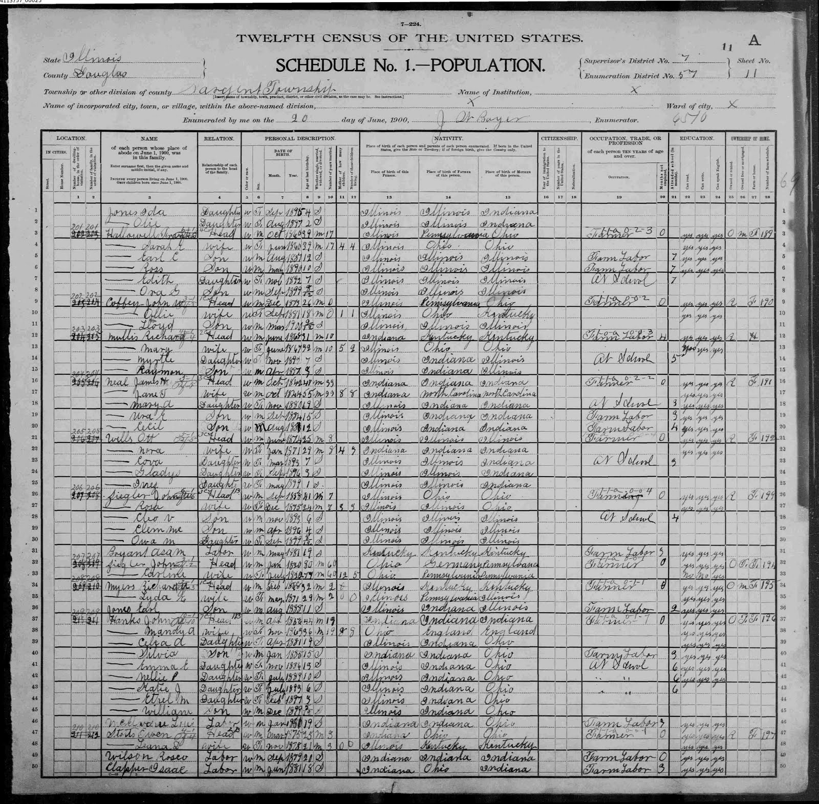 [John+Hanks+Illinois+Census+1900]