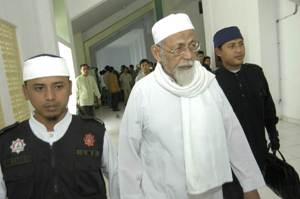 Police arrested Abu Bakar Ba'asyir